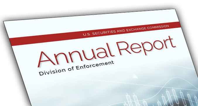 An image of the cover page of the SEC Enforcement Division's 2018 annual report