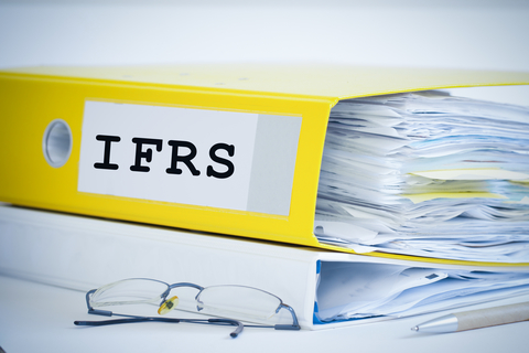 A file folder containing the IFRS taxonomy
