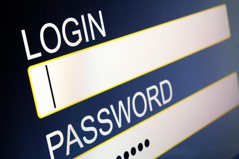 A login screen