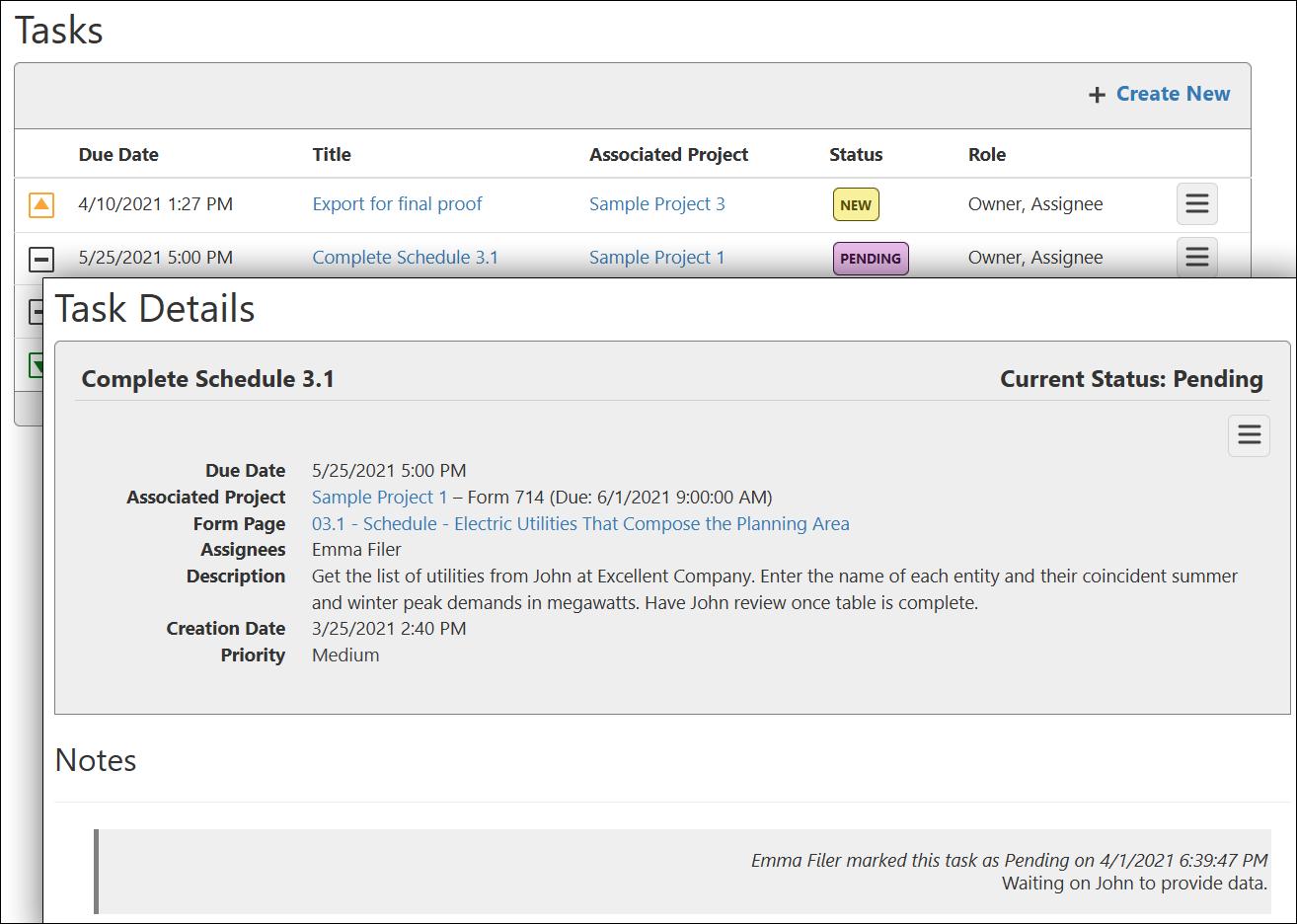 Task management in XBRLworks