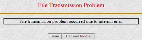 A screenshot from the EDGAR system showing an error message.