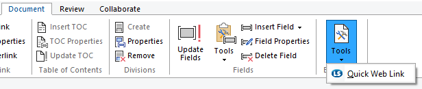 Document Tools Ribbon Example