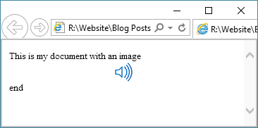 A return copy example when viewed in a browser.
