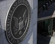 An picture of the SEC emblem at SEC Headquarters