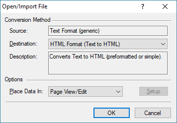 A screenshot of the GoFiler import dialog.