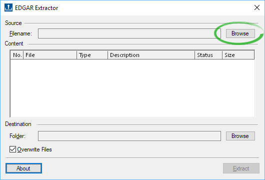 A screenshot of the dialog to select your return copy file.